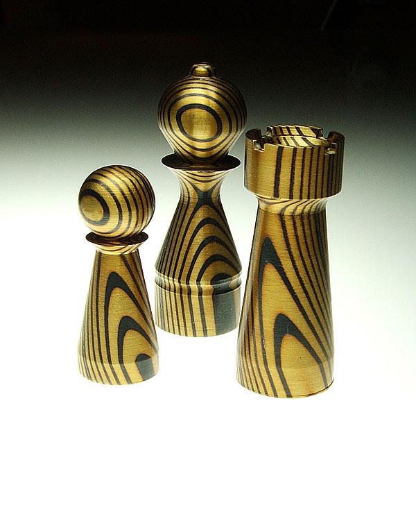 Schachfiguren Kupfer / Messing - Oliver Oettel