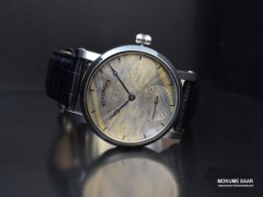 Uhr mit Mokume Gane Ziffernblatt, guillochiert - Kooperation Jochen Benzinger / Goldschmiede Eckardt